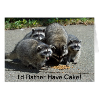 Raccoon Mom & Young Ones Greeting Card