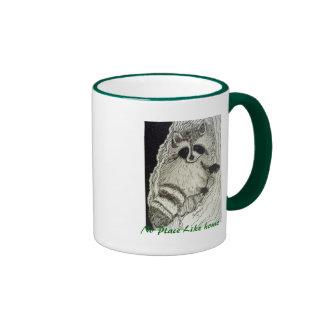 Raccoon No Place Like Home 15oz Ringer Mug