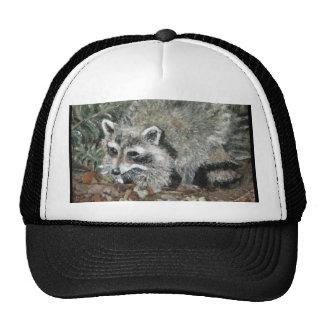 Raccoon Painting Cap