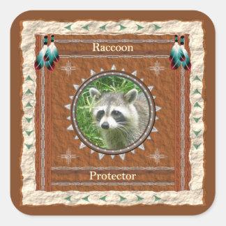 Raccoon  -Protector- Stickers - 20 per sheet