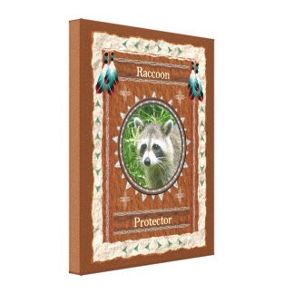 Raccoon  -Protector- Wrapped Canvas