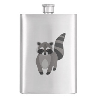 Raccoon Rascal Hip Flask