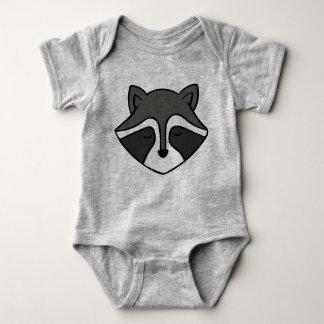 Raccoon rompers baby bodysuit