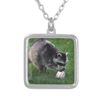Raccoon Silver Plated Necklace