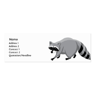Raccoon - Skinny Business Card Templates