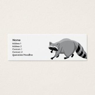 Raccoon - Skinny Mini Business Card
