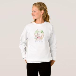 """Raccoon Tea Party"" Girls Sweatshirt"