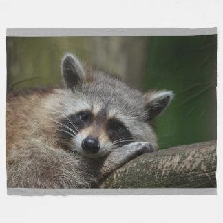 Raccoon Throw Blanket Fleece Blanket