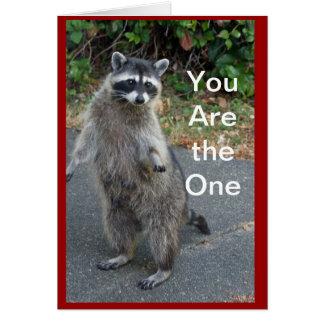 Raccoon Valentine Card