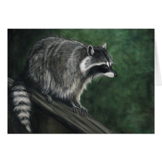 ":Raccoon"" Wildlife Art Reproduction Blank Notecard"