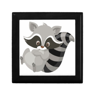 Raccoon woodland gift box