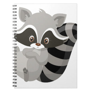 Raccoon woodland note book