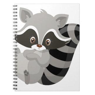 Raccoon woodland notebook