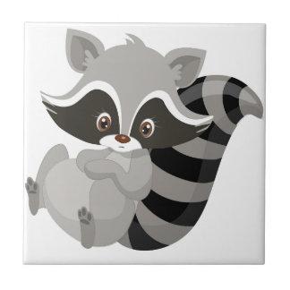 Raccoon woodland tile