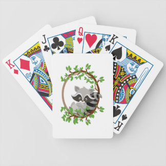 Raccoon WOODLANDCRITTERS Bicycle Playing Cards