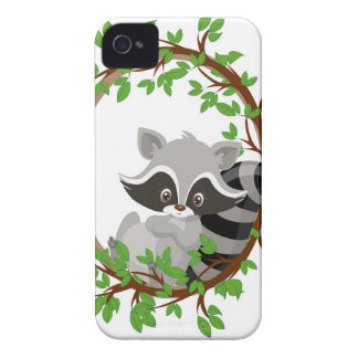 Raccoon WOODLANDCRITTERS Case-Mate iPhone 4 Cases
