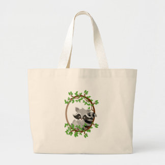 Raccoon WOODLANDCRITTERS Large Tote Bag