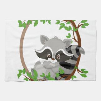 Raccoon WOODLANDCRITTERS Tea Towel