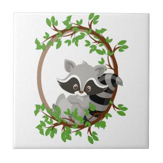 Raccoon WOODLANDCRITTERS Tile
