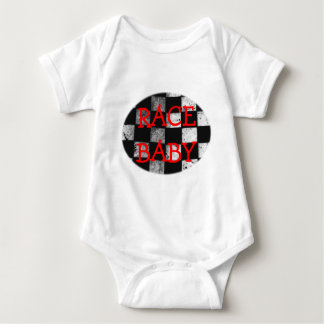 Race Baby Chequered Flag Customisable Bodysuit