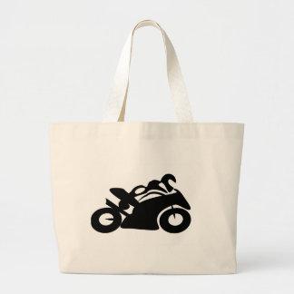 Race Biker Tribal Art PS Speed Racing Canvas Bag
