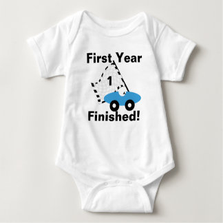 Race Car 1st Birthday Baby Bodysuit