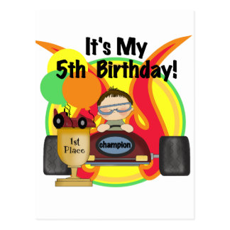 Race Car 5th Birthday T-shirts and Gifts Postcard