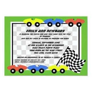 Race Car Baby Shower Card