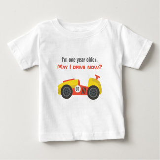 Race Car, Birthday Boy, Old enough to drive Baby T-Shirt