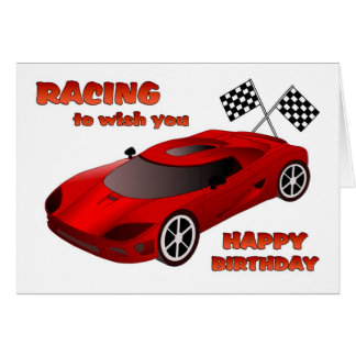 Race Car Birthday Card