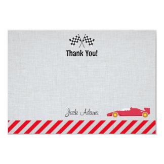 Race Car Birthday Thank You Card 9 Cm X 13 Cm Invitation Card