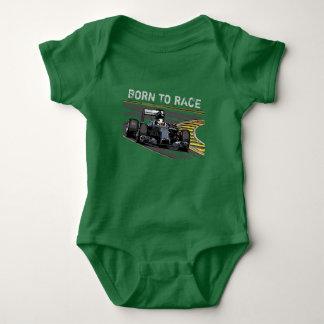 RACE CAR - BORN TO RACE BABY BODYSUIT