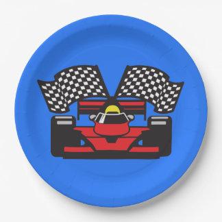 Race Car Design Paper Party Plate