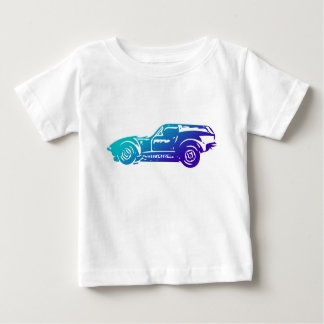 Race Car diagram on baby jersey shirt