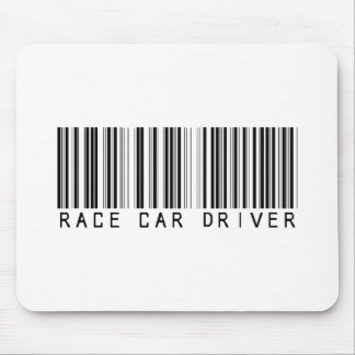 Race Car Driver Bar Code Mouse Pad