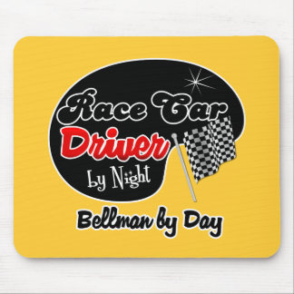 Race Car Driver by Night Bellman by Day Mouse Pad