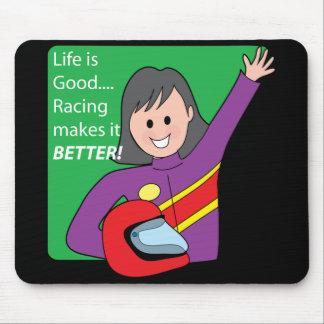Race Car Girl Mouse Mats