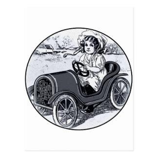 Race Car Girl Postcard