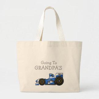 Race Car Going To Grandpa's Tote Bag