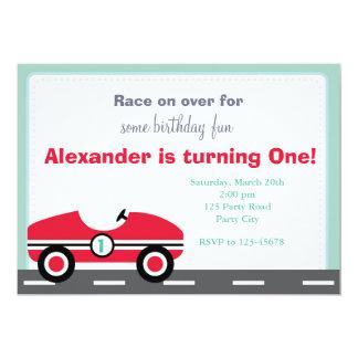 Race Car Invitation (Ride On Birthday for Boys)