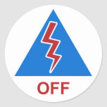 "Race Car Kill Switch Decal ""Off"" Round Sticker"