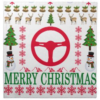 RACE CAR MERRY CHRISTMAS . NAPKIN