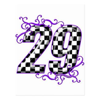 Race car number 29 postcard