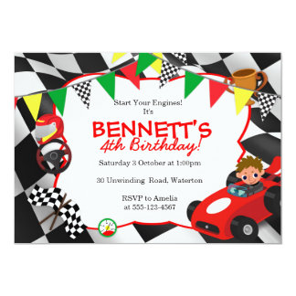 Race Car Party Invitations Racing Themed