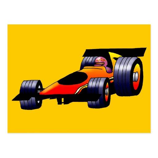 Race Car Post Cards