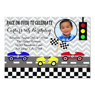race car racecar boy birthday invitation