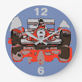 RACE CAR - RAIN MASTER LARGE CLOCK