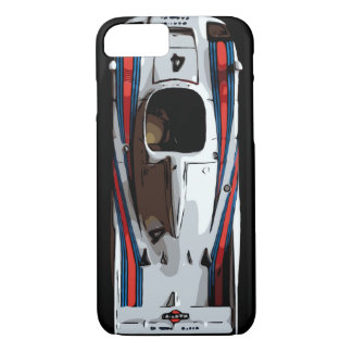 RACE CAR - red, white, blue iPhone 8/7 Case