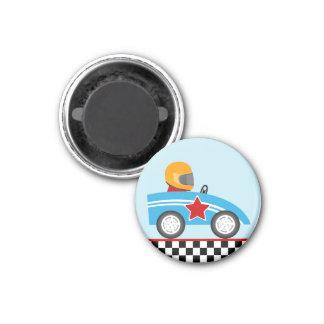 Race Car round magnet