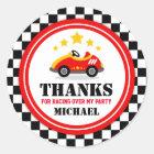 Race Car Thank You Favour Tag